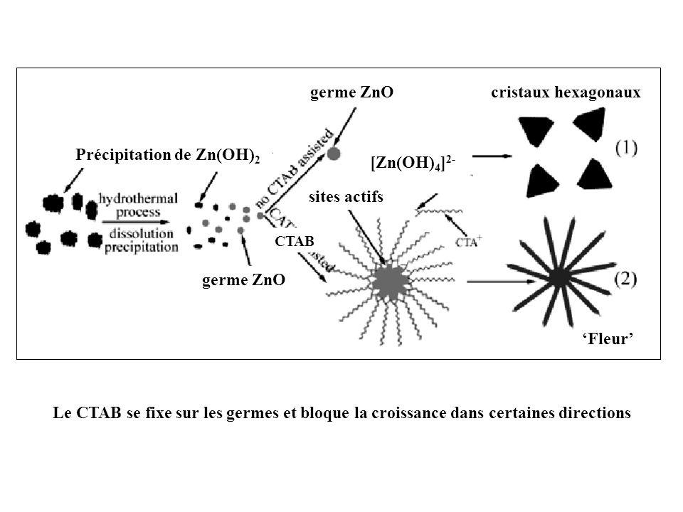 Précipitation de Zn(OH)2 [Zn(OH)4]2- cristaux hexagonaux